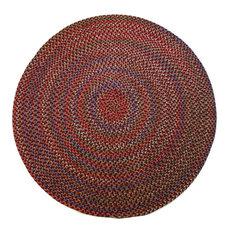 Rhody Rugs   8u0027 Round (Large 8x8) Rug, Burgundy (Red)