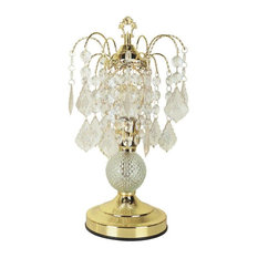 Chandelier Style Table Lamp In Gold Finish Lamps