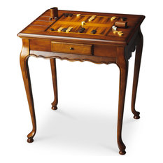 Butler Specialty Company   Butler Bannockburn Olive Ash Burl Game Table   Game  Tables