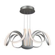 Capella Flower Petal LED Chandelier, Silver