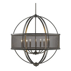 Colson 9-Light Chandelier With Shade, Etruscan Bronze