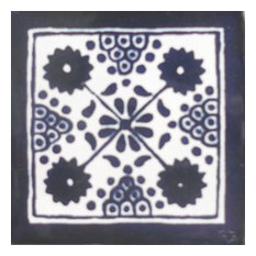 "4""x4"" Mexican Ceramic Handmade Tile #C103"