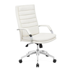 zuo modern director comfort office chair white office chairs - Clear Desk Chair