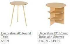 Where To Get Inexpensive Skirted Decorator Tables Side Tables Neutral