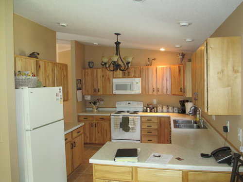 What Paint Color Goes Well With Hickory Cabinets