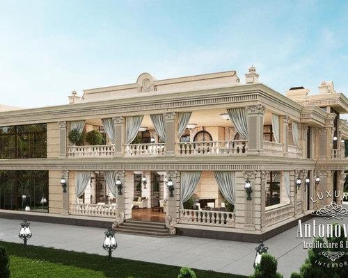 Exterior villa from luxury antonovich design for Luxury villa exterior designs