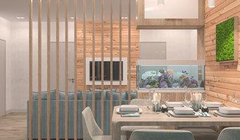 Дизайн и 3D визуализация кухни-гостиной в экостиле