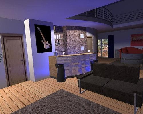 Comptoir - Bar Design - Maison contemporaine - Belgique