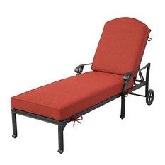 Stinson Chaise Lounger With Cushion, Terracotta