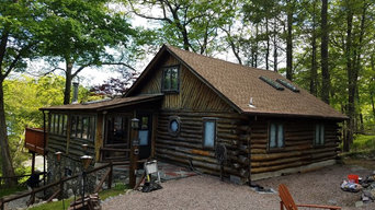 Log home complete strip and stain