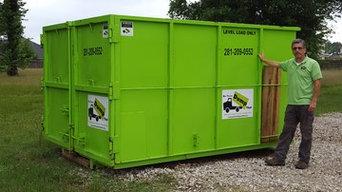 Dumpster rental in The Woodlands