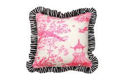 Ruffled Chinoiserie Pillow
