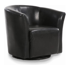 Belleze   Swivel Barrel Chair, Black   Armchairs And Accent Chairs