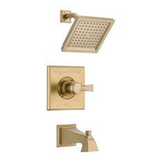 Delta Dryden Monitor 14 Series Tub & Shower Trim, Champagne Bronze, T14451-CZ