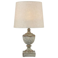 Regus Outdoor Table Lamp in Gray and Antique White