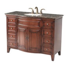 "48"" Yorktown Single Sink Vanity With Baltic Brown Granite Top"