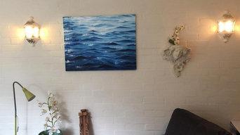 "Original Painting Sea waves Acrylic Marina Art 28""x35"""
