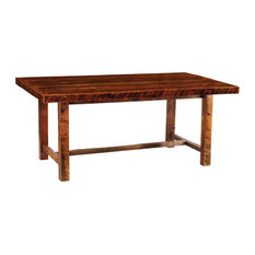 Barnwood Farmhouse Dining Table 5 6 7 8' With Artisan Top 8'