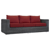 Outdoor Sofa, Canvas Red