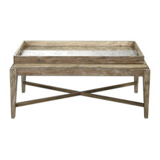 Uttermost Cottage Weathered Wood Coffee Table Tables