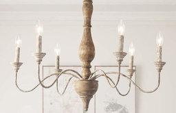 LALUZ 6-Light Antique Chandelier Lighting Rustic Pendant Antique Chandeliers