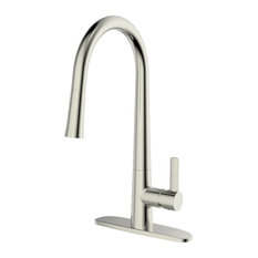 Ucore Single Handle Pull Down Kitchen Faucet, Brushed Nickel