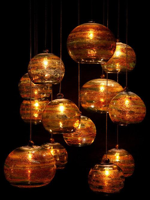Fireball glass chandelier and pendant lights aloadofball Choice Image