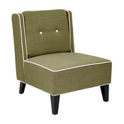 Marina Accent Chair With Inner Box Spring and Wood Legs, Woven Seaweed Fabric