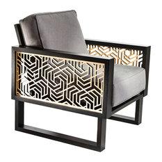 Twist Modern Gray Hexagon Lounge Chair