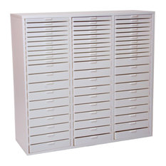 Triple Large Kit K, White Cabinet With White Drawers