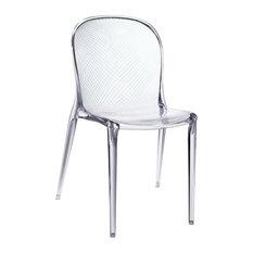 clear acrylic dining chair | houzz