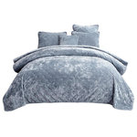Tache Home Fashion - Velvet Dreams Light Blue Plush Diamond Tufted Bedspread, Twin - Melt into your luxurious dreams when you lay with our Light Powder Blue Plush Diamond Quilted Bedspread.