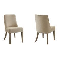 Coaster Home Furnishings - Upholstered Dining Chairs Barrel Back Nailhead Trim Set of 2  sc 1 st  Houzz & Barrel Dining Chairs | Houzz