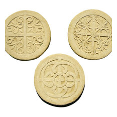 Celtic Steps Garden Stepping Stones, Set of 3, Antique