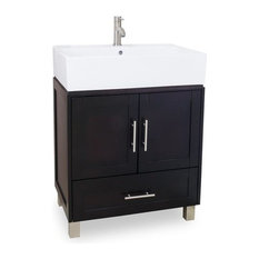 "28"" York Single Sink Vanity, Espresso"