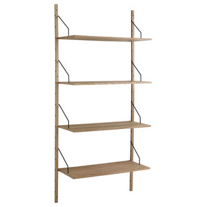 Kiju Wall-Mounted Bookcase With 4 Shelves