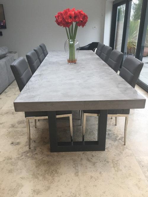 polished concrete furniture.  polished 3 metre polished concrete dining table  furniture throughout polished concrete a