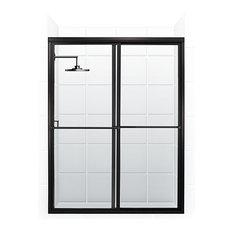 coastal shower doors newport bypass sliding shower door oil rubbed bronze and clear
