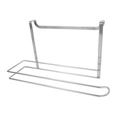 Steel Over the Cabinet Paper Towel Holder, Silver