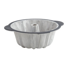 Trudeau Pro Marble Silicone Structure 10 Cup Fluted Tube Cake Pan