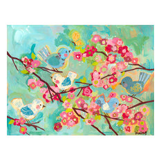 """Cherry Blossom Birdies"" Canvas Art by Winborg Sisters, 24""x18"""