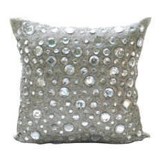 "Diamonds Everywhere, Silver Art Silk 24""x24"" Pillow Shams"