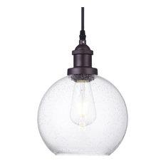 Glass globe pendant lighting houzz industrial vintage seeded glass globe pendant light pendant lighting aloadofball Images