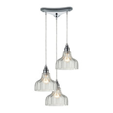 Danica 3-Light Pendant, Polished Chrome