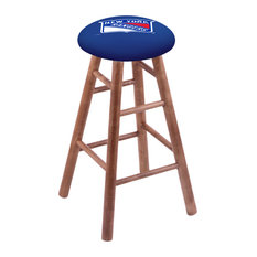 Maple Counter Stool Medium Finish With New York Rangers Seat 24-inch
