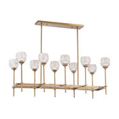 Garland 10 Light Chandelier, Warm Brass