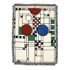 Frank Lloyd Wright Collection Ley Playhouse Tapestry Throw Throws
