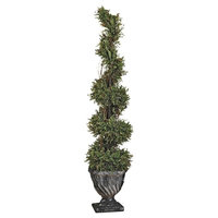 """60"""" Spiral Boxwood Topiary"""