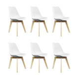 Scandi Wood X Dining Chair, White, Set of 6