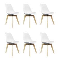 Scandi Wood X Dining Chair, White, Set of 6